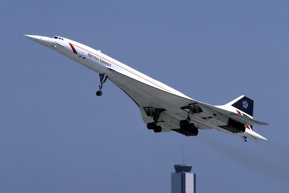 British Airways Concorde G-BOAC Concorde airplane