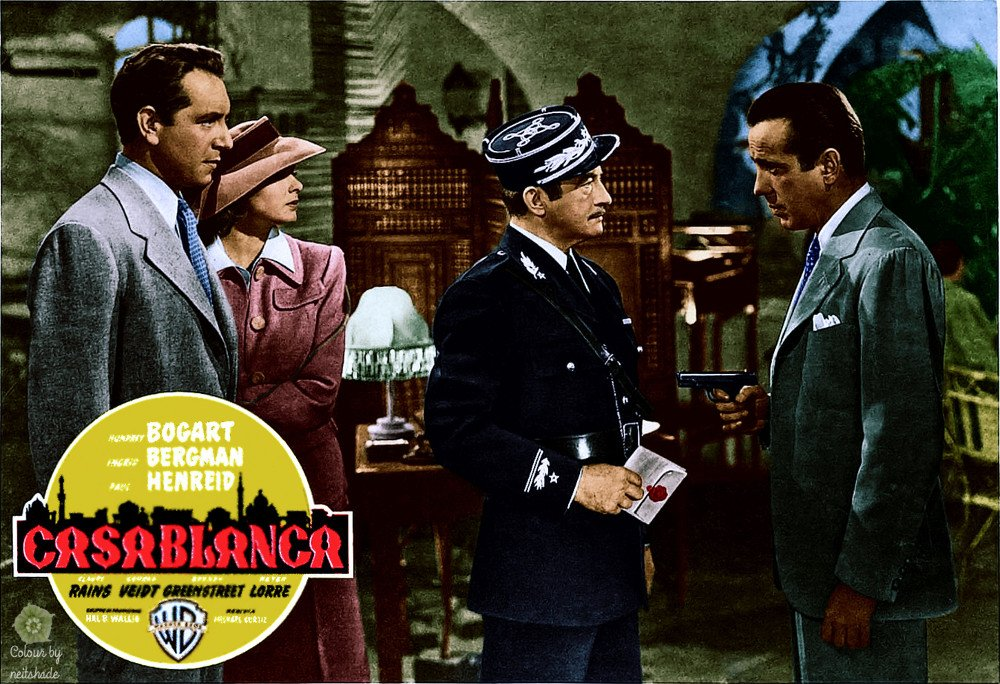 Casablanca colorised