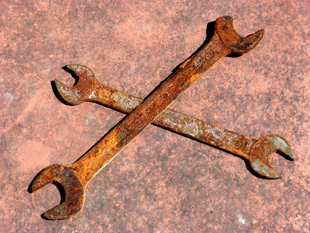 Heavily rusted tool