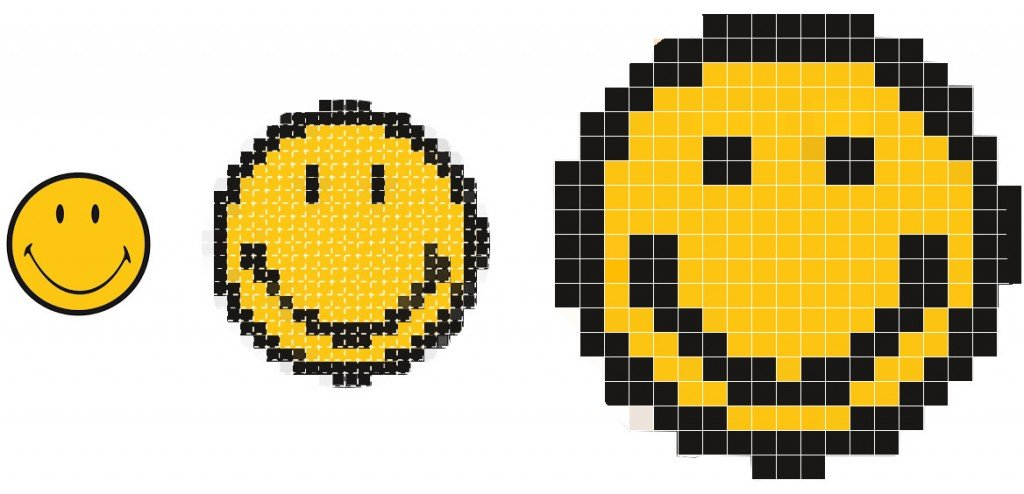 Pixels smiley