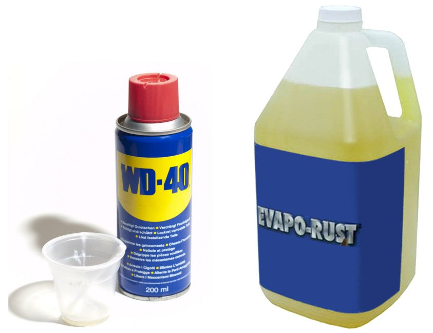 WD-40 and Evapo-Rust