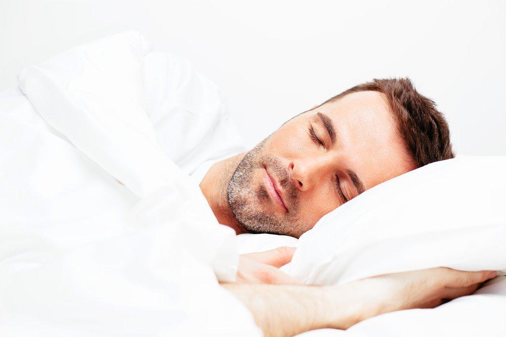 man sleeping calm