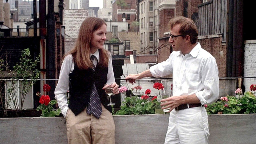 Annie Hall's movie drinking wine fron glass scene