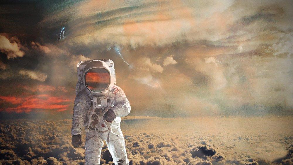 astronaut on Jupiter