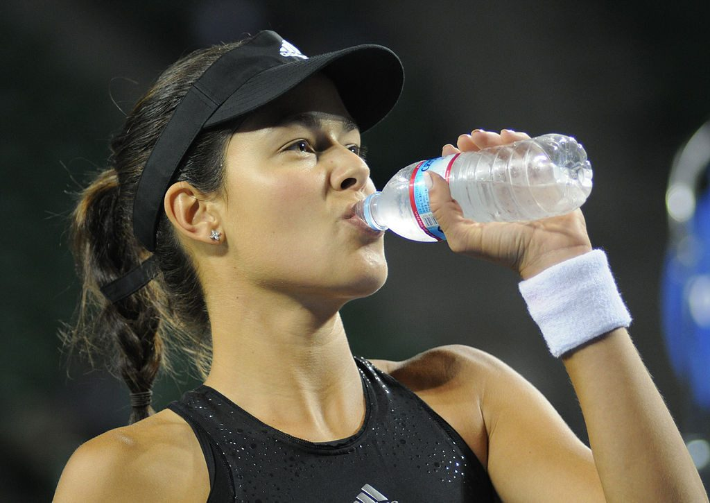Athlete drinking water Ana Ivanović