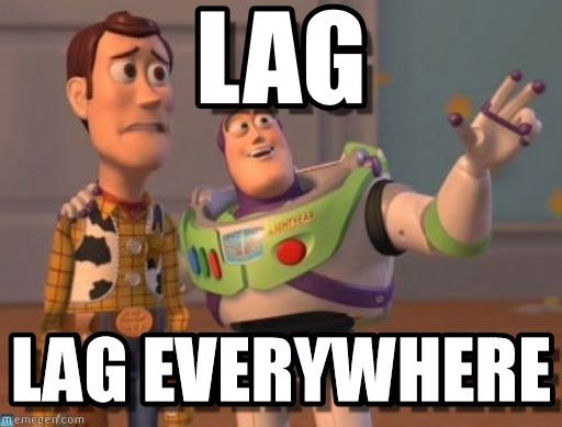 Lag lag everywhere Meme