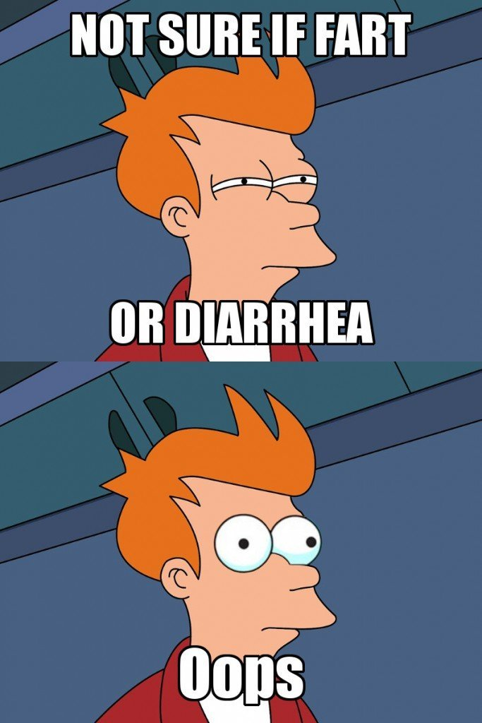 Not sure if fart or diarrhea oops meme