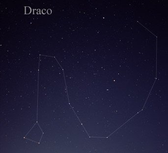 The constellation Draco, the dragon