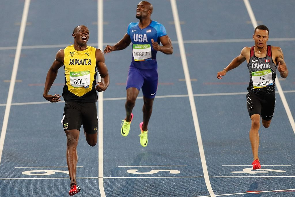 Usain Bolt running