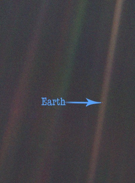 Carl Sagan Pale blue dot