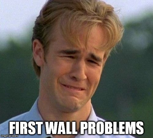 First wall problems meme