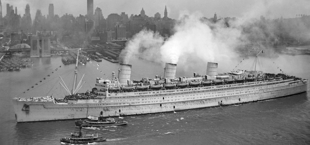 RMS Queen Mary 20Jun1945 NewYork