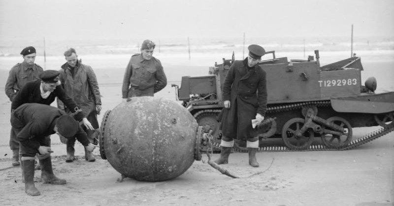 Recovered german mine Naval mine of the second world war