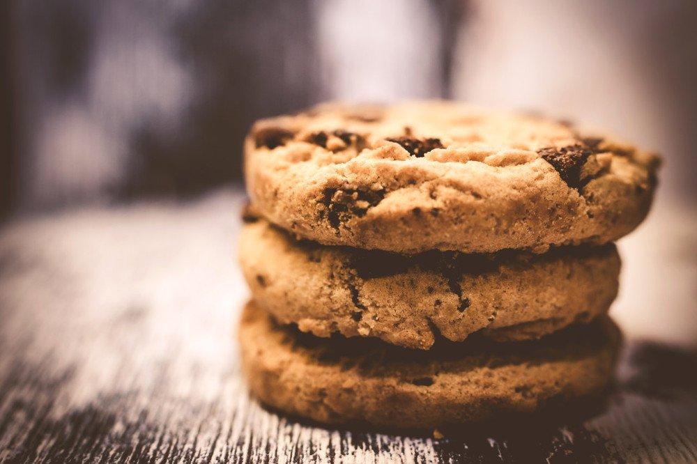 Maillard reaction cookies brown