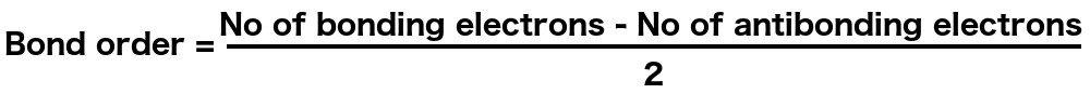 Bond order formula expression