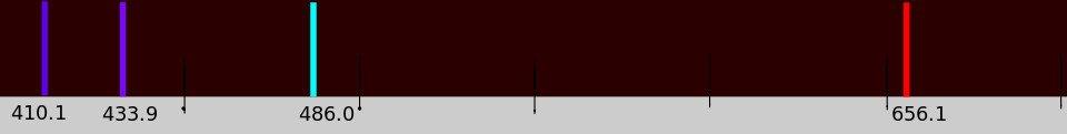 Bright-line Spectrum-Hydrogen