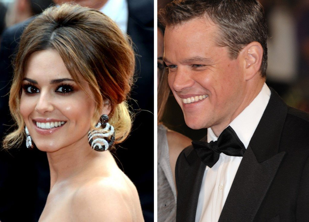 Cheryl Cole and Matt Damon