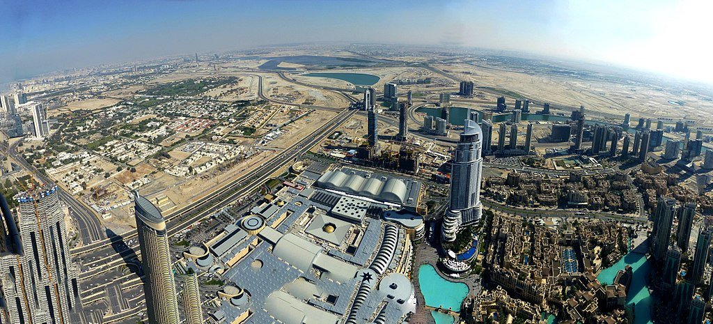 Dubai - View from the Burj Khalifa - Downtown Dubai - The Dubai Mall - Business Bay
