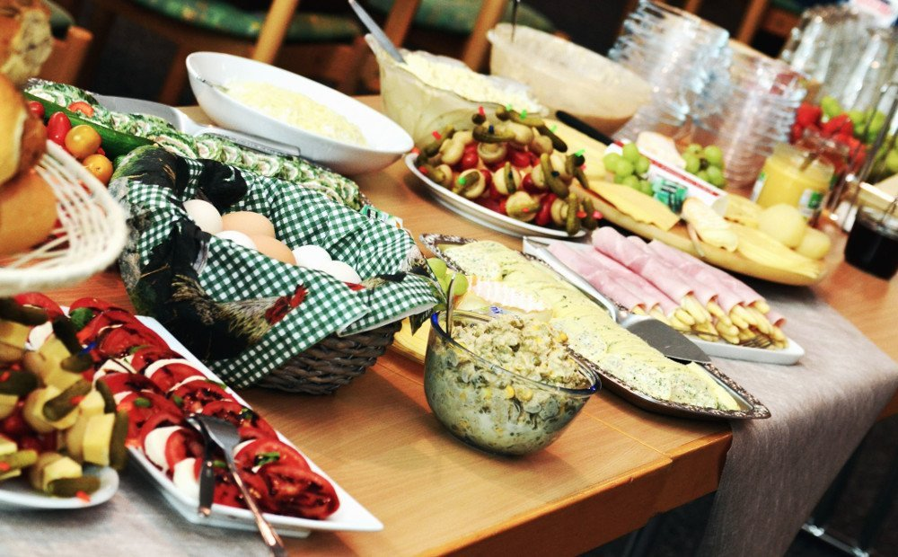 Food full of table