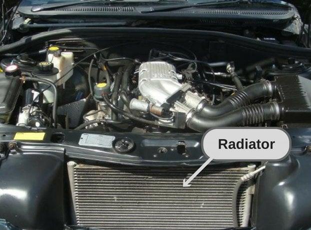 Car engine Radiator