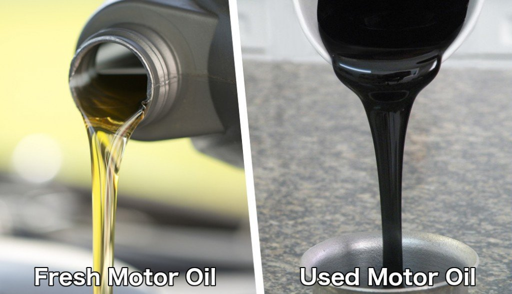 Fresh engine oil and used engine oil