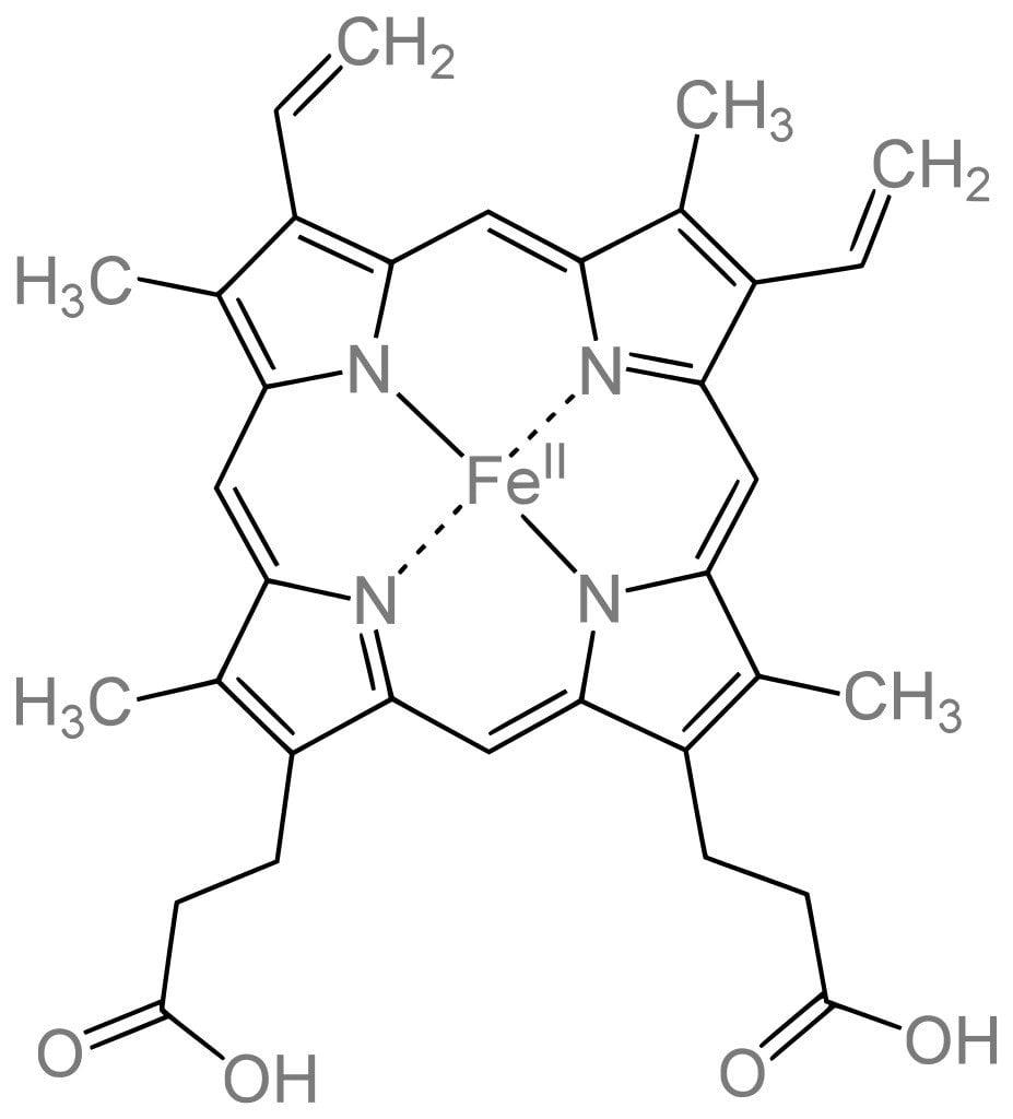 Heme b structure