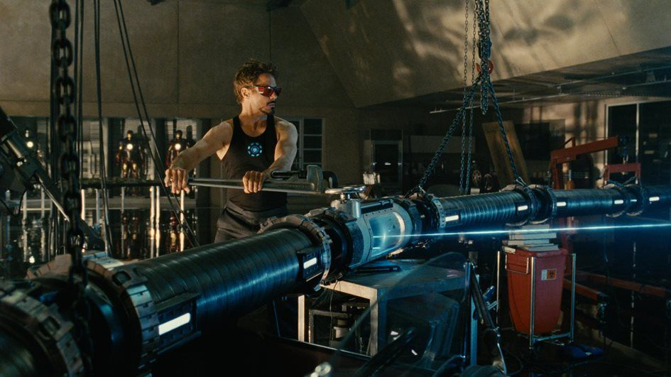Ironman 2 particle accelerator scene