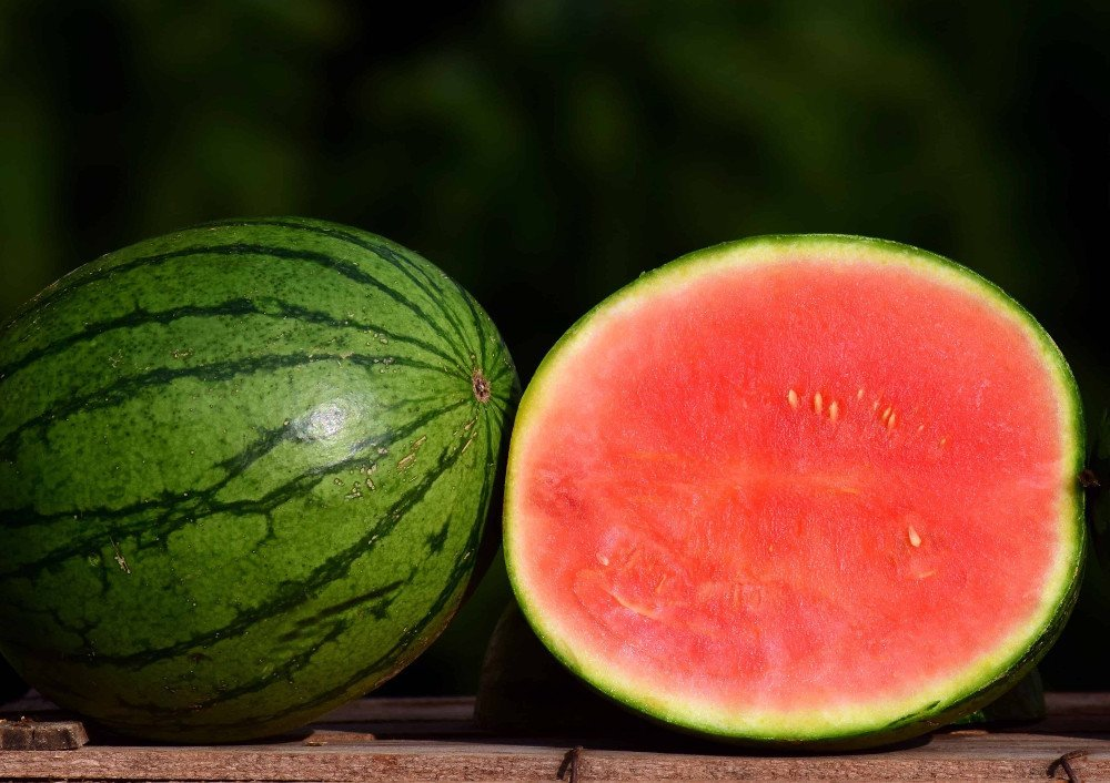 Seedless watermelon half