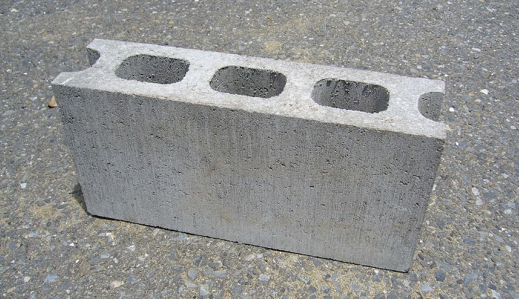 Concrete cinderblock