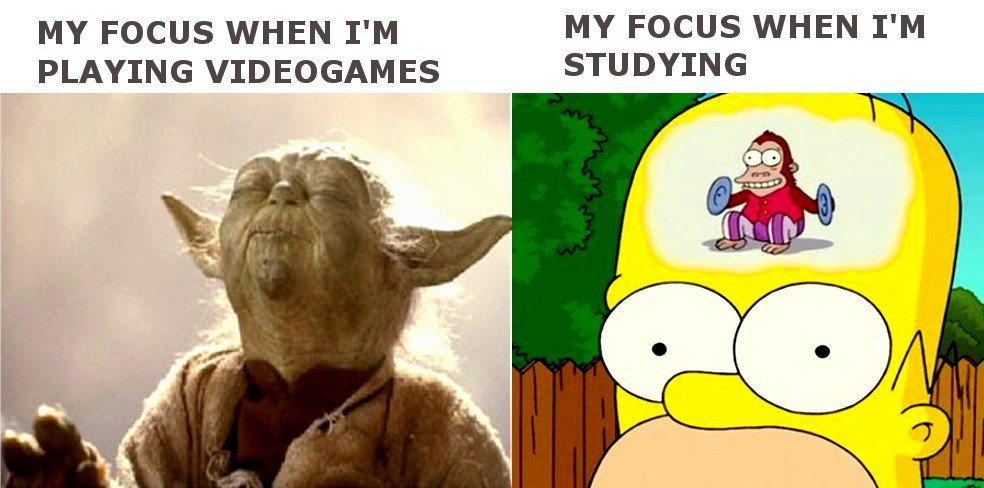 My focus when i'm playing video game meme