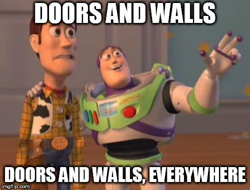 doors and wall everywhere meme