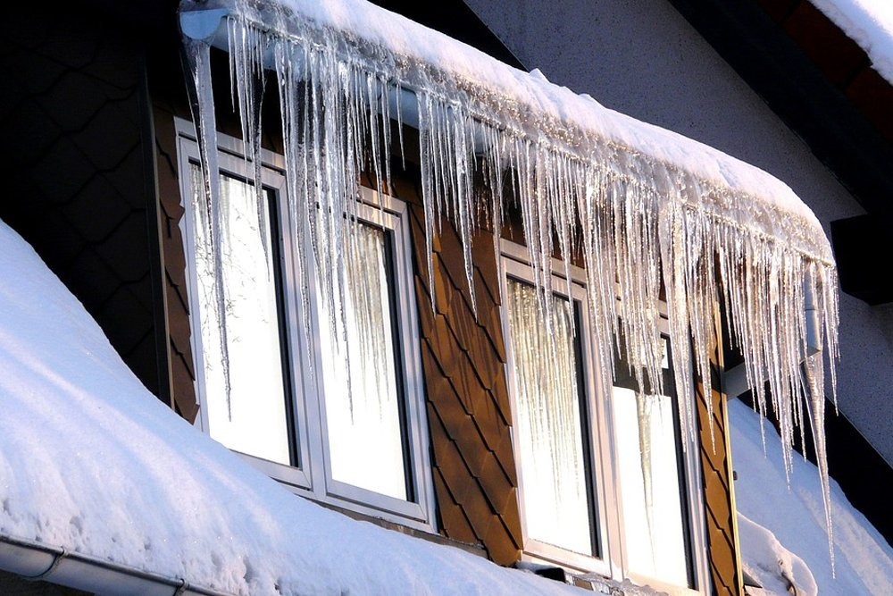 ice icicle cold winter window