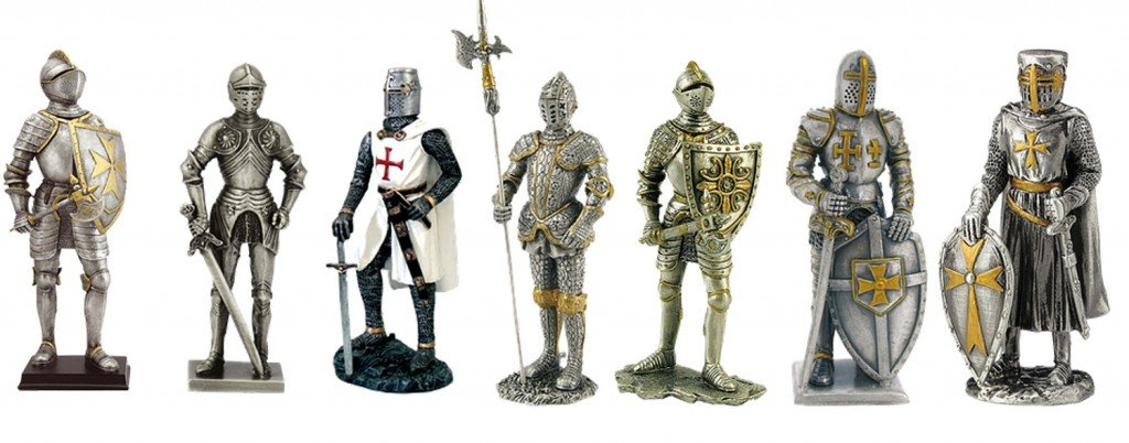 knight armor middle ages isolated