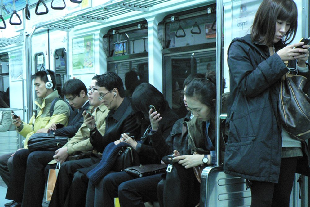 people using smartphone