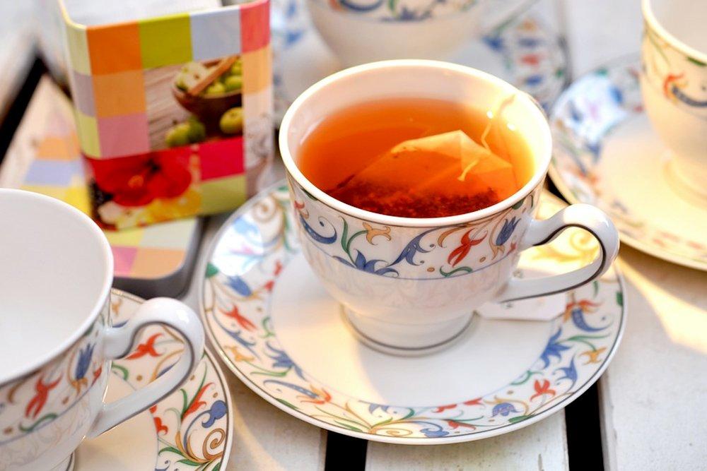tea cup service tea bag