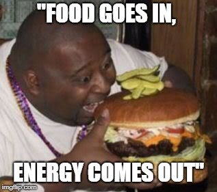 Energy comes out meme