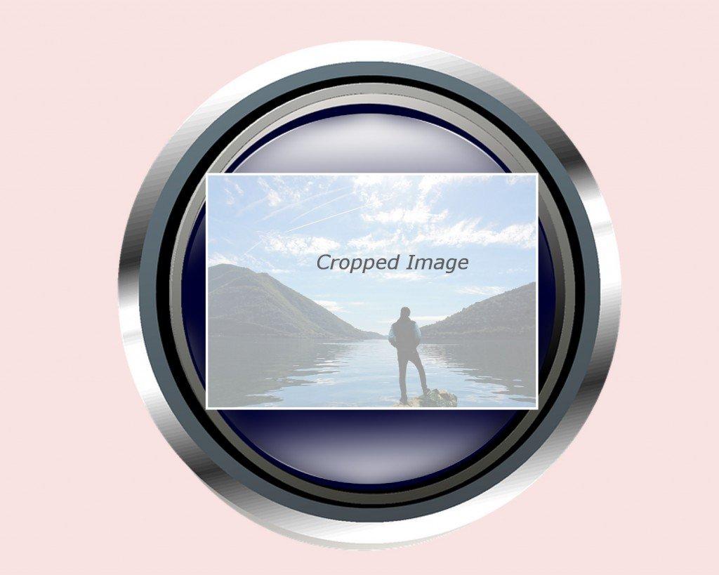 cropped image, lens, image