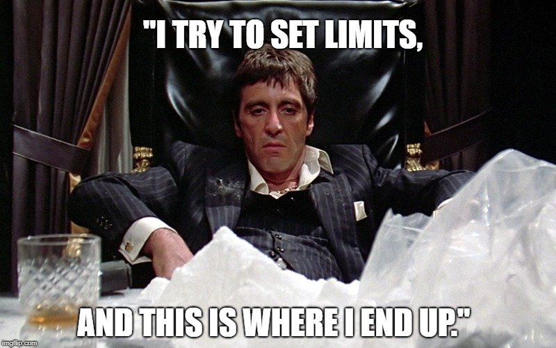 I try to set limits meme