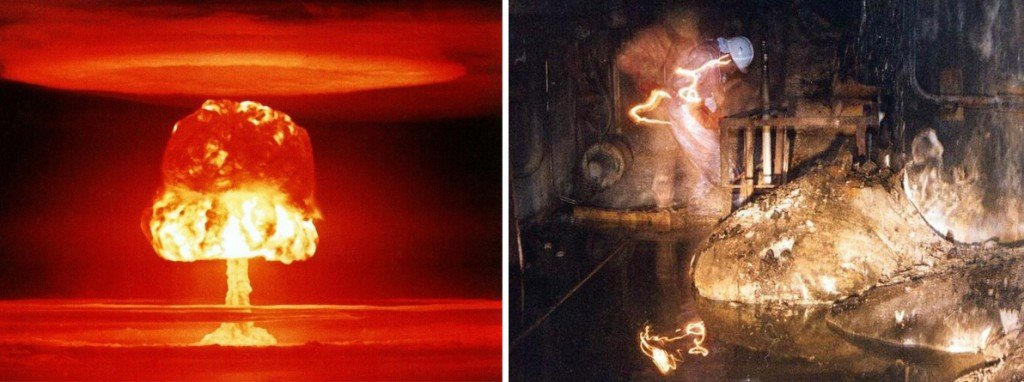 nuclear and elephant foot explosion