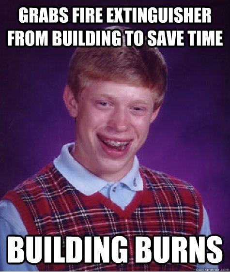 building burns meme