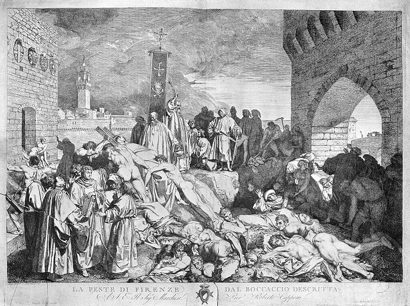 The plague of Florence in 1348