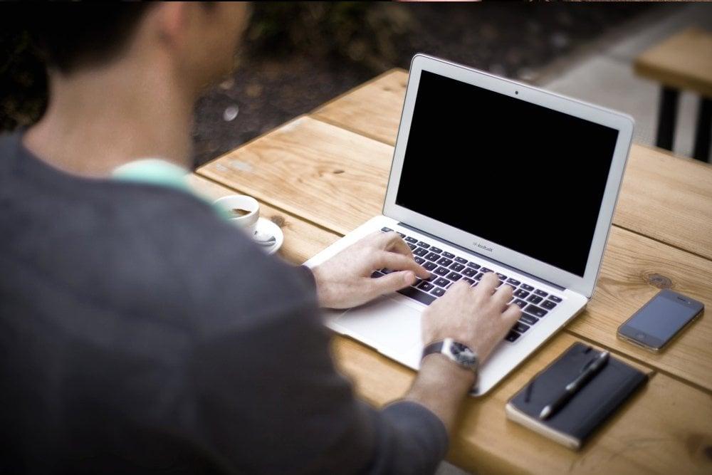 laptop computer people technology internet notebook business