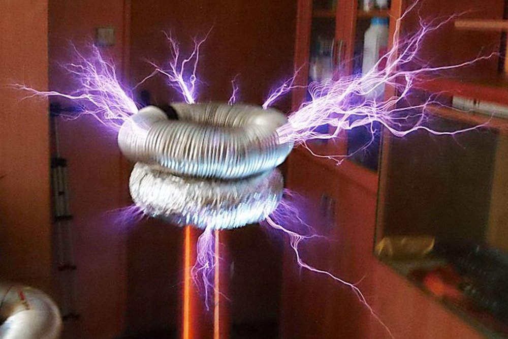 tesla coil nikola high voltage resonance transformer, What Is A Tesla Coil?, Science ABC, Science ABC