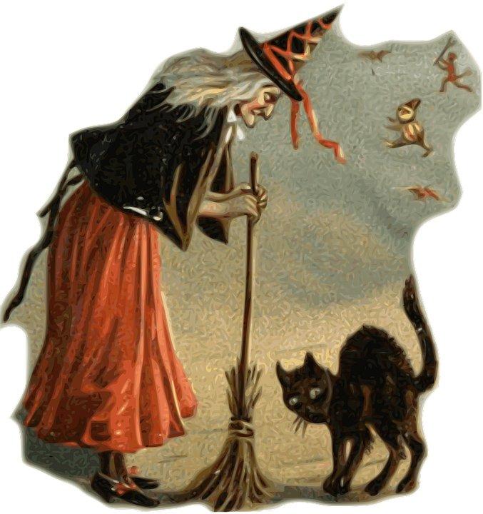 witch-black-cat-broom-halloween