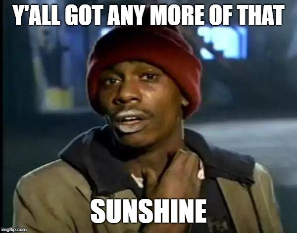 Y'ALL GOT ANY MORE OF THAT; SUNSHINE meme