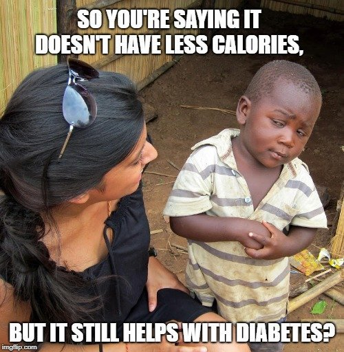but it still helps with diabetes meme