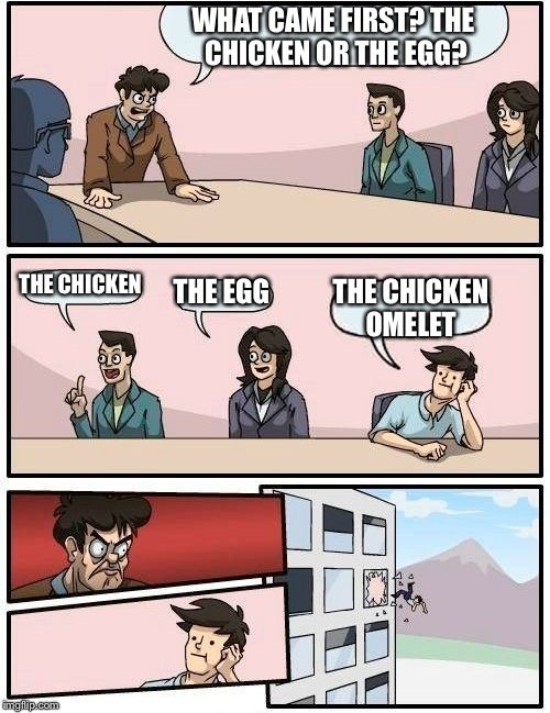 chicken omlete meme