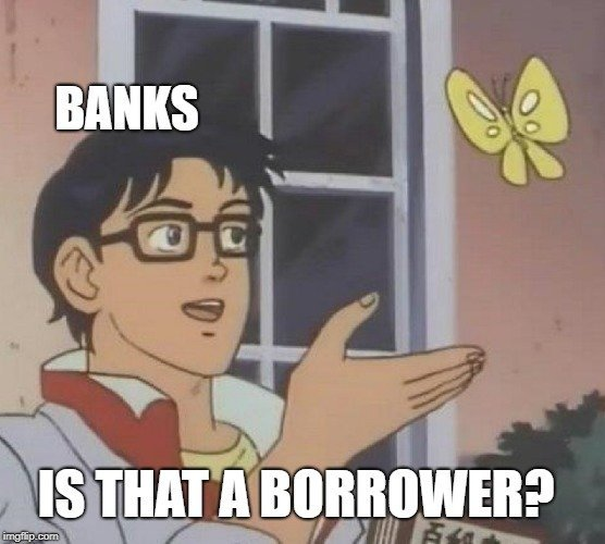 BANKS; IS THAT A BORROWER meme