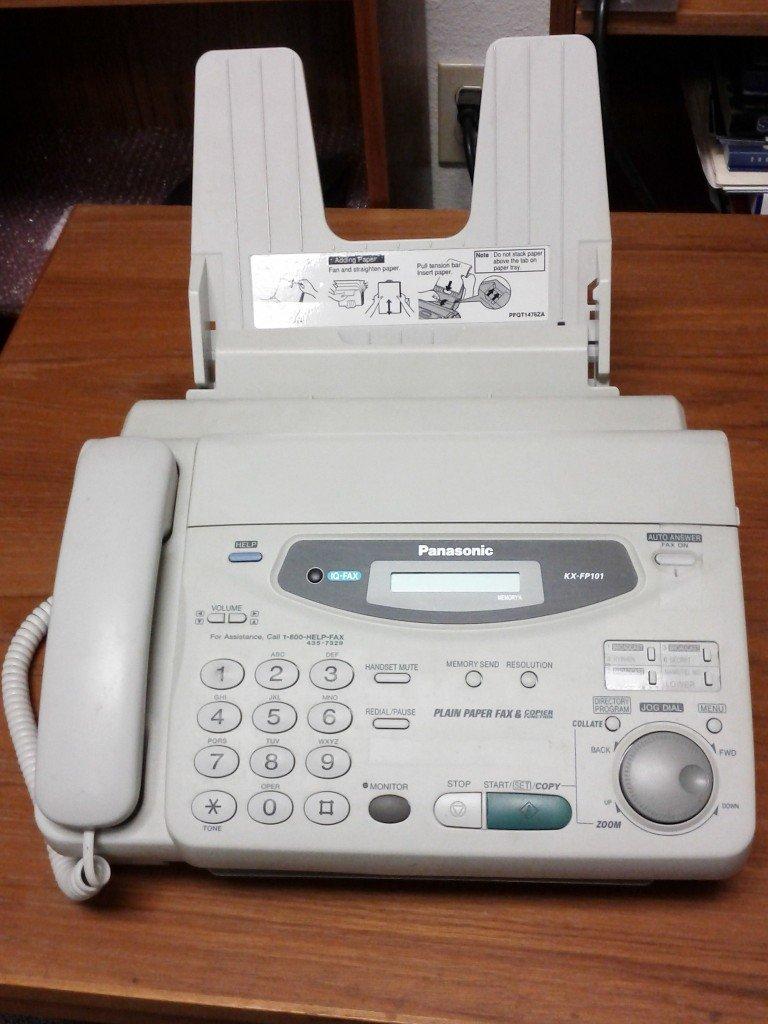 dead fax machine