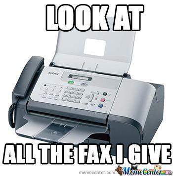 fax i give meme